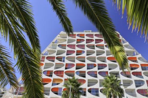 Architecture, palmier, eden, graphisme, couleurs